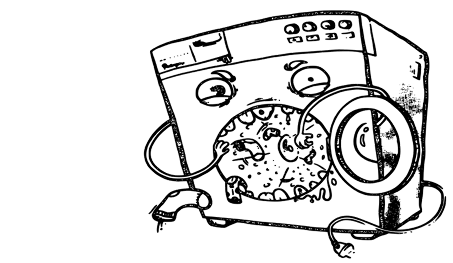 washing machine eating socks  (Illustration by Adam Belis, adambelis.com)